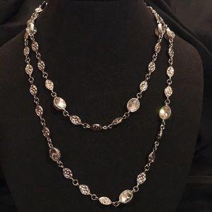 Silver CZ necklace